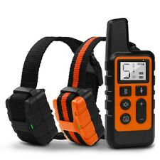 2600FT 2 Dog Electric Shock Collar Remote Control Waterproof Anti Bark Training