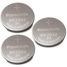 3 NEW PANASONIC BR3032 3V Lithium Batteries Replaces DL3032 CR3032- USA Seller