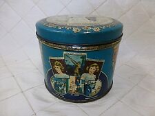 1939 King George Royal Visit to Canada Commonwealth Biscuit Tin Huntley Palmers