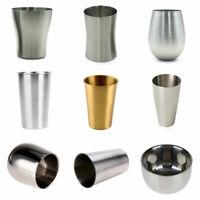 150-550ML Stainless Steel Metal Beer Cup Wine Cups Coffee Tumbler Tea Milk Mug