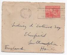 1928 TRINIDAD & TOBAGO KGV Cover PORT OF SPAIN to SOUTHAMPTON GB Slogan
