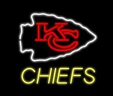 "New Kansas City Chiefs Beer Bar Neon Light Lamp Sign 17""x17"" Real Glass"