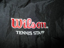 Vintage WILSON Tennis Staff Embroidered Zippered (MED) Jacket