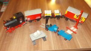 Lego 7722 4,5V Güterzug mit Lokomotive inklusive Schienen und Weichen