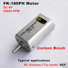 2PCS DC6V 25000RPM High Speed FK-180PH HM Motor Cooling Hole for Airplane Model