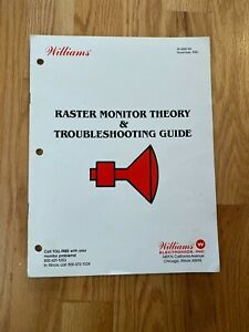 Raster Monitor Theory & Troubleshooting Guide Manual, Williams 1983