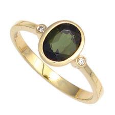 Ringe mit Turmalin echten Edelsteinen aus Gelbgold für Damen