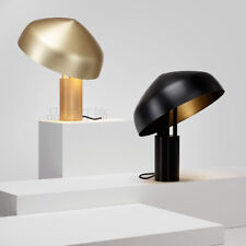 Post Modern Metal Shade Table/ Desk Lamp Led Black/ Gold Finish Reading Light
