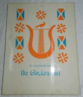 Vintage 1960 Menu from The Glockenspiel Restaurant Berks County, PA