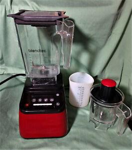 Blendtec Designer 625 Red Digital Blender (Model CTB1) with accessories