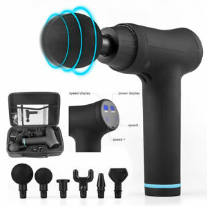 6 Speed Percussion Deep tissue Massage Gun Vibration Muscle Body sport Therapy