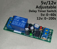 DC 5V 12V Adjustable Timer Delay Turn on /off Switch Control Time Relay Module