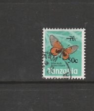 Tanzania 1979 Butterfly opt 50c on 70c Used SG 269