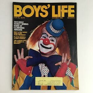 Boys' Life Magazine October 1980 An Eagle Scout Works Hard at Clowning Around
