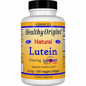 Healthy Origins Lutein Lutemax 2020 Supplement, 20 mg, 180 Count (Pack of 1)
