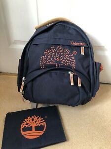 Timberland Navy Blue & Orange Logo Backpack/Rucksack With Insulated Pouch