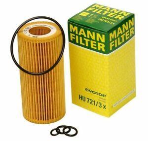 For C216 W221 V221 R230 CL600 S65 Engine Oil Filter MANN 2751800009 / HU 721/3 x