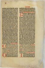 Postinkunabel LATEIN Original Bibel Textblatt um1510 Latein BUCHDRUCK Inkunabel