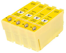 4 Compatible E714 Yellow Ink jet Printer Cartridges For T0714 TO714 T0894 TO894