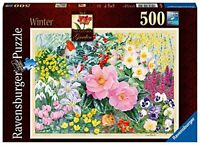 Ravensburger The Cottage Garden No 4  Winter 500 Piece Jigsaw Puzzle Flowers