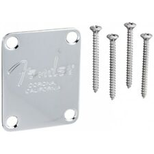 Fender American 4-Bolt Bass Guitar Neck Plate Chrome