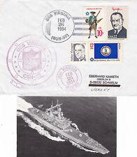 USS Virginia CGN 38 CRUISER una copertura inseriti nella cache & RIVISTA di piccole dimensioni delle foto