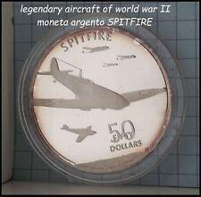 aerei Guerra Mondiale WWII SPITFIRE moneta di argento da collezione in silver ^