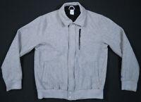 NWOT Nike Sportswear Coachstroyer Wool Gray Spell Out Logo Full Zip Mens Jacket