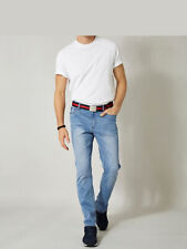 Men plus by happy size tapered-vaqueros, Blue bleached. nuevo!!! sale%%%