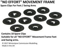 """""""No Effort"""" FLEXIBLE Movement Tray Frame Spare Clips"""