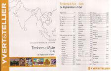 CATALOGO YVERT & TELLIER SELLOS DE ASIA INDIA 2015 . DE AFGANISTAN A TIBET