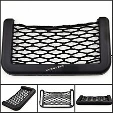 Hot Auto Car Storage Net Resilient String Bag GPS Phone Holder Pocket Organizer