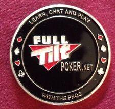 Two Full Tilt Poker (FTP) Metal Chips / Card Protectors. Bulk Available.