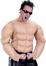 Adult Mens Fake Padded Chest Muscle Shirt Costume Muscles - Fast Ship -