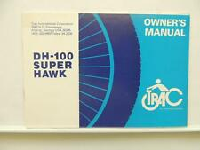 1986 NOS Trac Moped DH 100 Super Hawk Owner's Manual L9229