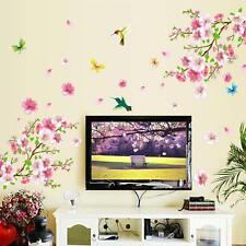 Removable Flower Blossom Butterfly Vinyl Art Wall Sticker Decal Home Room Decor