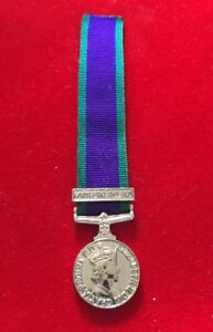 """Miniature General Service Medal Northern Ireland Miniature GSM NI With 6"""" Ribbon"""