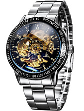 Alienwork IK Automatic Watch Self-winding Skeleton Mechanical Stainless Steel