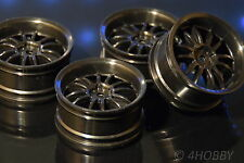 4 ruedas llantas 1/10 negro 1:10 RC Car rim 26mm 52mm on-Road modellbau auto 12