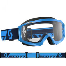 SCOTT MX HUSTLE MOTOCROSS GOGGLES BLUE with CLEAR WORKS LENS