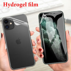 Screen Protector Full Cover Soft Hydrogel Film For iphone 13 12 11 Pro Max 7+ XR