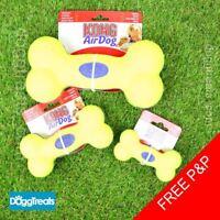 KONG Squeak Bone Dog Toy - Air Squeaker Tennis Ball Texture Small Medium Large