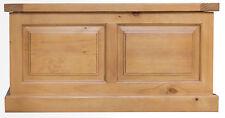 Leyburn Chunky Pine Blanket Box / Ottoman / Storage Trunk 90cm 50cm 49cm