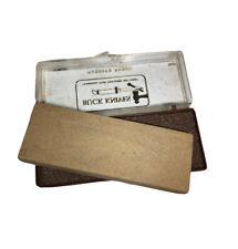 Vintage Buck Knives Washita Sharpening Stone #131 in Original Plastic Case