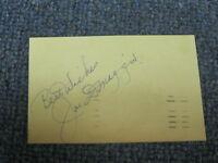 Joe DiMaggio Autographed Postcard