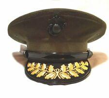 USMC Marine Corps General Olive Drab OD Officer Visor Hat Cap Schirmmutze
