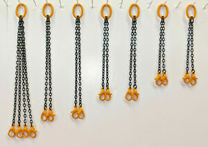 Crane Lifting Chain Set. In Authentic Liebherr Yellow 1/87th Scale.