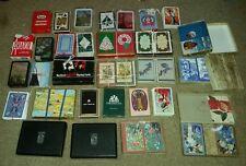 LOT OF 42 decks playing cards KEM ASPREY CASPARI vintage antique OLD ESTATE