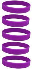 5 Purple Pancreatic Cancer Awareness Bracelets - High Quality Silicone Bracelets
