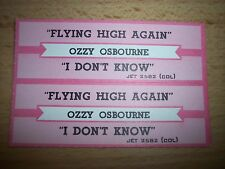 """2 Ozzy Osbourne Flying High Again Jukebox Title Strip CD 7"""" 45RPM Records"""